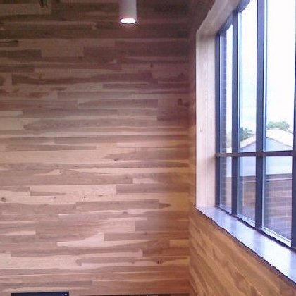 A 2 story V-Groove wall.