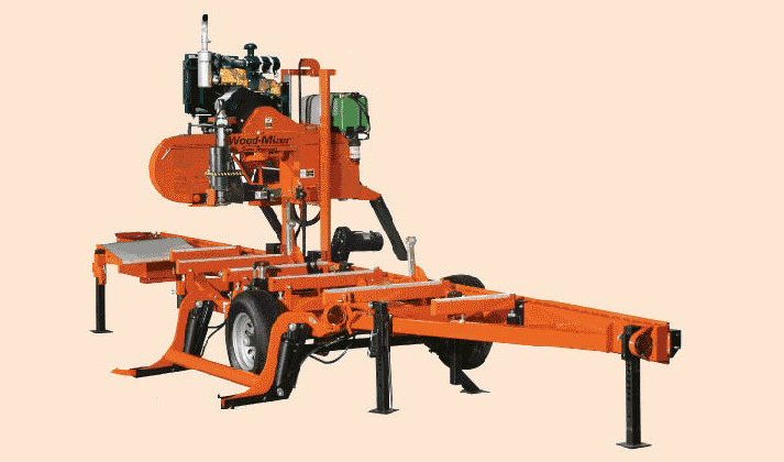 The Woodmizer portable sawmill brings the sawing to the logs