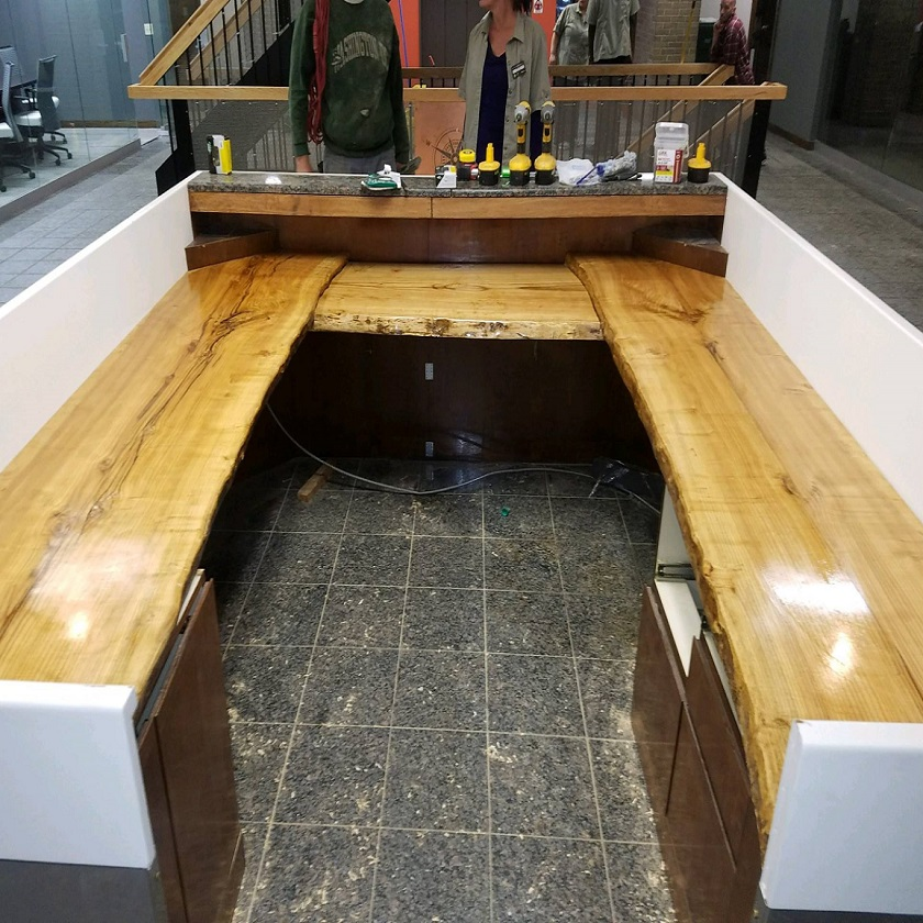 Live Edge Ash Reception Desk