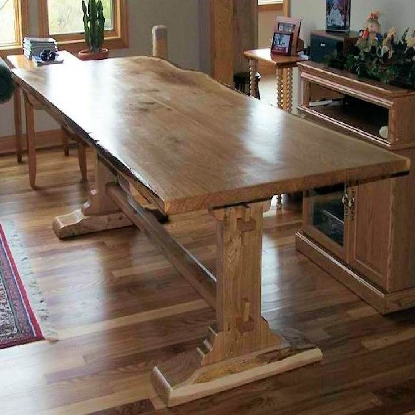 Live Edge Trestle Table